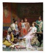 The Toilet Of A Roman Lady Fleece Blanket