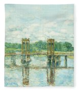 The Toll Bridge New Hampshire Fleece Blanket