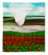 The Tomatoes And The Tornado Fleece Blanket