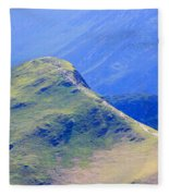 The Top Of Catbells In The Lake District Fleece Blanket