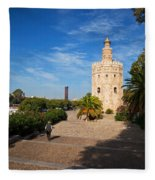The Torre Del Oro, Gold Tower, Military Fleece Blanket