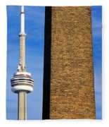 The Tower And The Stack Fleece Blanket