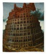 The Tower Of Babel Fleece Blanket