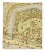 The Tower Of London, From A Survey Made Fleece Blanket