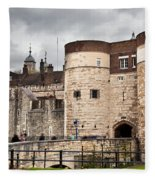 The Tower Of London Uk The Historic Royal Palace And Fortress Fleece Blanket