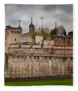 The Tower Of London Uk The Historic Royal Palace Fleece Blanket