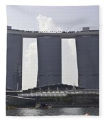 The Towers Of The Iconic Marina Bay Sands In Singapore Fleece Blanket