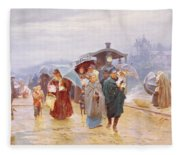 The Train Has Arrived, 1894 Fleece Blanket