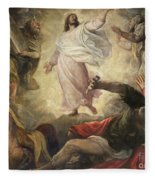 The Transfiguration Of Christ Fleece Blanket