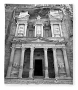 The Treasury At Petra Fleece Blanket