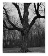 The Tree In The Park Fleece Blanket