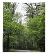 The Trees Of Illinois Fleece Blanket