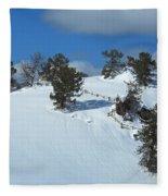 The Trees Take A Snow Day Fleece Blanket