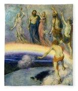 The Trek Of The Gods To Valhalla Fleece Blanket