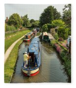 The Trent And Mersey Canal At Alrewas Fleece Blanket