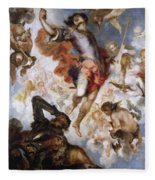 The Triumph Of Saint Hermenegild Fleece Blanket