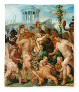 The Triumphal Procession Of Bacchus Fleece Blanket