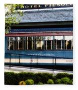 The Trolley Stop - Hotel Fiesole Fleece Blanket