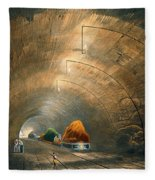 The Tunnel, From Coloured View Fleece Blanket