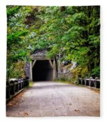 The Tunnel On The Scenic Route Fleece Blanket