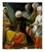 The Turkish Ambassador And His Entourage At The Court Of Naples Fleece Blanket