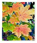 The Turning Leaves Fleece Blanket