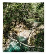 The Turquoise Waters Of The Forest River No2 Fleece Blanket