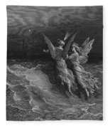 The Two Fellow Spirits Of The Spirit Of The South Pole Ask The Question Why The Ship Travels  Fleece Blanket