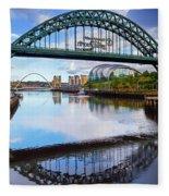The Tyne Road Bridge With The Sage Fleece Blanket