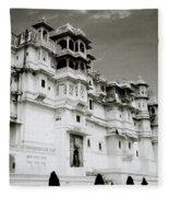 The Udaipur City Palace  Fleece Blanket