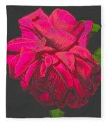 The Ultimate Red Rose Fleece Blanket