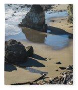 The Unexplored Beach Fleece Blanket