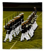 The United States Marine Corps Silent Drill Platoon Fleece Blanket