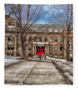The University Of Wisconsin Education Building Fleece Blanket