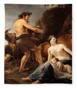 The Upbringing Of Zeus Fleece Blanket
