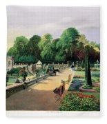 The Upper And Lower Terrace Gardens Fleece Blanket