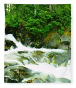 The Upper Paradise River Fleece Blanket
