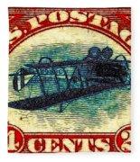 The Upside Down Biplane Stamp - 20130119 Fleece Blanket