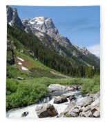 The Valley Beyond Fleece Blanket