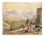 The Valley Of Maidan, From Sketches Fleece Blanket
