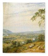 The Valley Of Wyoming Fleece Blanket