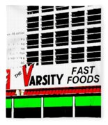 The Varsity Atlanta Pop Art Fleece Blanket