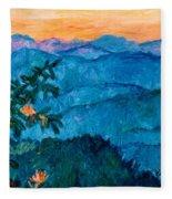 The Very Blue Ridge Fleece Blanket