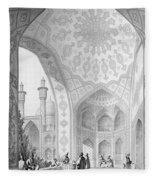 The Vestibule Of The Main Entrance Of The Medrese I Shah-hussein Fleece Blanket