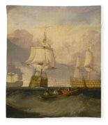 The Victory Returning From Trafalgar Fleece Blanket