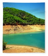 The View At Shasta Lake Fleece Blanket
