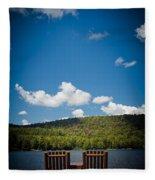 The View From Big Moose Inn Fleece Blanket