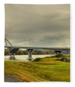 The View From Crown Point New York Fleece Blanket