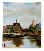 The View Of Delft Fleece Blanket