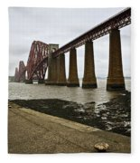 The View Of The Forth Bridge Fleece Blanket